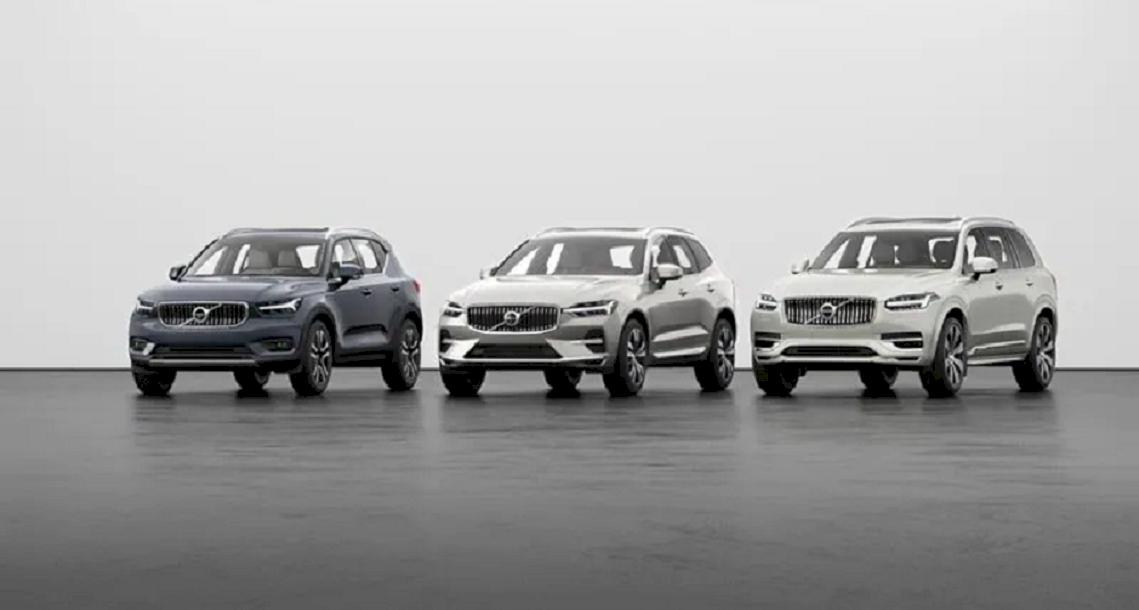 Drei XC Volvo Modelle.